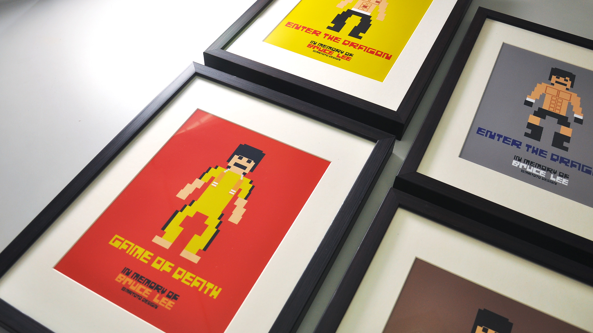 In Memory of Bruce Lee Pixel Project Wall Art Print Collction