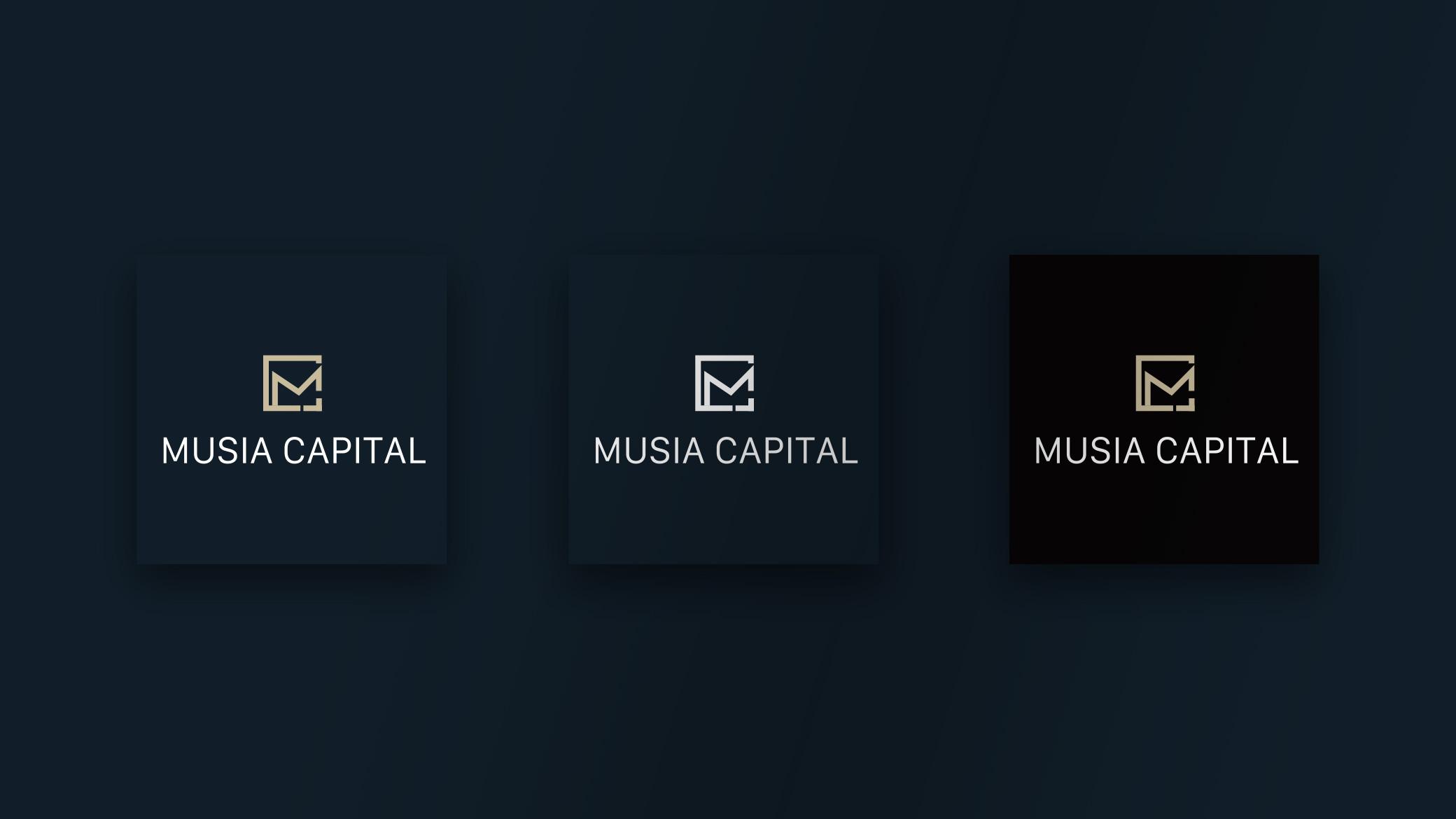 Musia Capital Logo Design Square view
