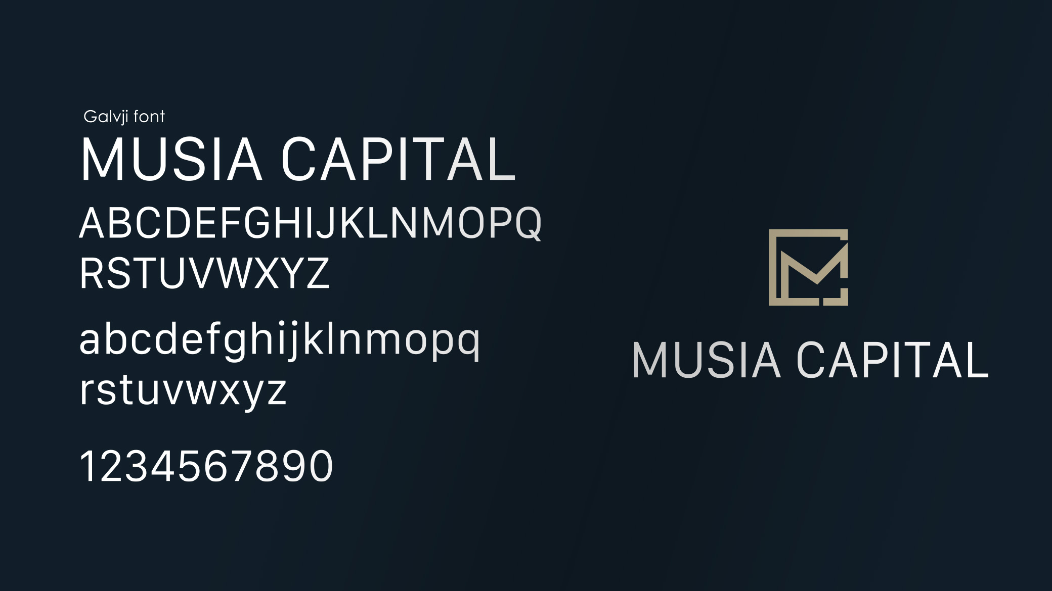fonts of Musia Capital
