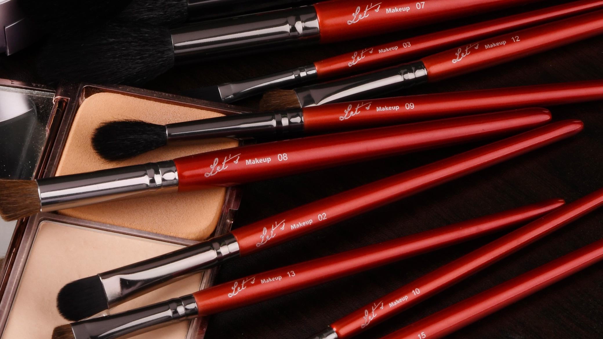 Lets makeup professional makeup brush photoshoot
